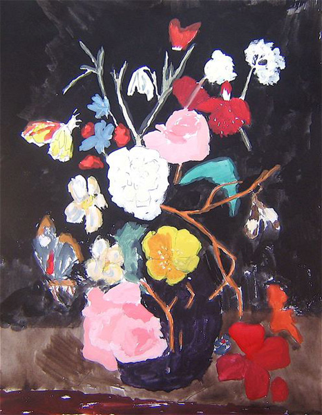 Still Life With Flowers and Moth Bella Foster