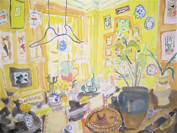 Yellow Room Bella Foster drawings